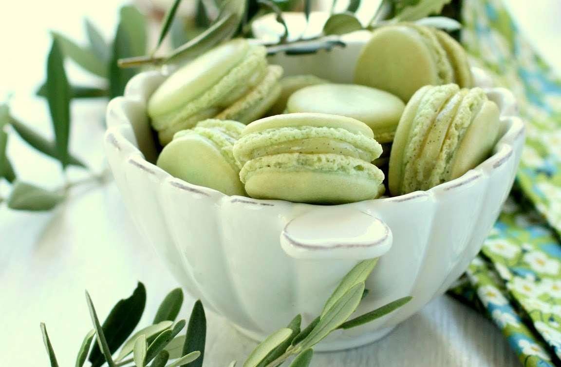 Macarons vaniglia e olio d'oliva